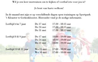 Open Training GSVV