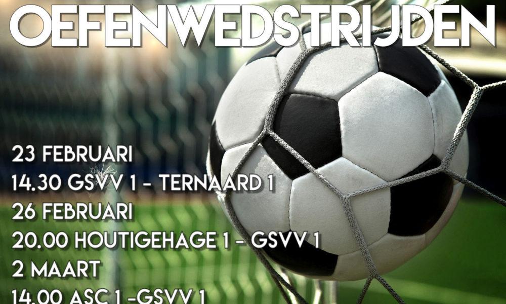 Oefenwedstrijden GSVV 1