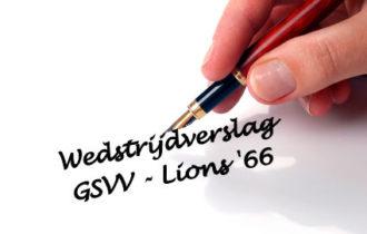 GSVV – Lions '66 in evenwicht