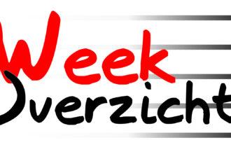 Vanaf deze week weer wekelijks een weekoverzicht